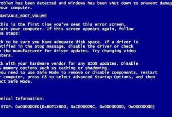 O azul de advertência tela UNMOUNTABLE_BOOT_VOLUME: o que fazer?