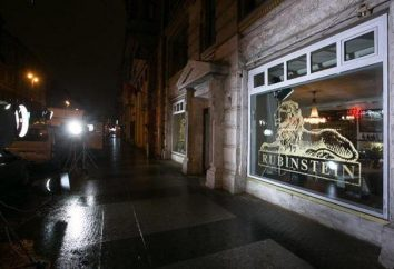 """Restaurante """"Rubinstein"""" en la calle. Rubinstein en San Petersburgo: el menú, comentarios"""