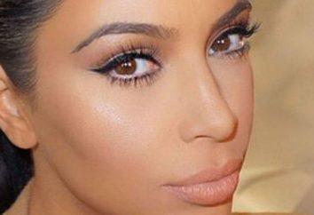 imagen informal en el estilo de Kim Kardashian: Maquillaje