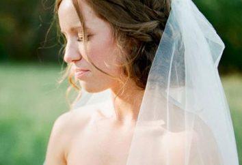 Frisuren für eine Hochzeit mit einem Schleier und ohne
