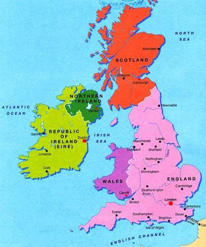 Immagini Della Cartina Della Gran Bretagna.Del Regno Unito Del Regno Di Gran Bretagna Mappa