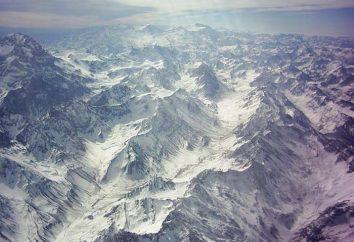 Où sont les montagnes de la Cordillère? Cordillera Montagnes: description