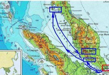 Emplacement détroit de Malacca sur la carte du monde. Où il est et ce qui relie le détroit de Malacca
