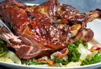 receta detallada: omóplato de cerdo en el horno
