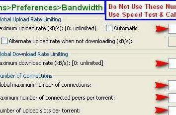 Réglage de uTorrent pour une vitesse maximale. Comment configurer uTorrent à la vitesse maximale
