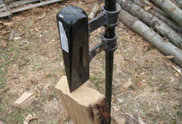 Jak zrobić rozdzielacz z rękami? Rodzaje urządzeń do łupania drewna opałowego: rysunków, instrukcje