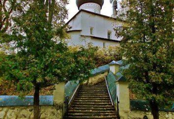 Pushkin Montanhas, Igreja do mosteiro. História, cronograma de serviços e foto