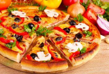 Massa de levedura para pizza. Pizza de fermento de massa folhada. Massa de pizza clássica