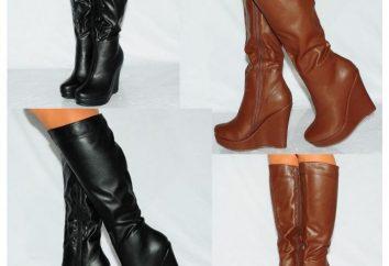 Von dem, was Stiefel auf dem Keil zu tragen: Modetrends