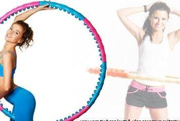 Hula-hoop: masaż obręcz z kolcami