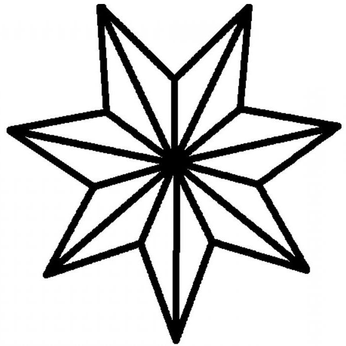 Come Si Disegna Una Stella Di Natale.Stella A Sette Punte Valore Come Disegnare Una Stella A Sette