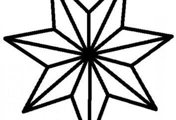 Siedmioramienna gwiazda: znaczenie. Jak narysować gwiazdę siedmioramienną? Sześciopunktowa gwiazda wykonana z papieru
