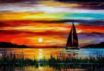 Jak narysować zachód słońca na morzu? Szczegółowe działanie
