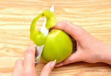 Coltello per le verdure e la frutta per la pulizia: varietà e caratteristiche