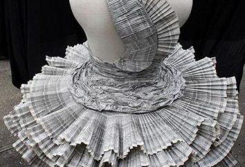 Anmutig und zart Kleid aus Zeitungen