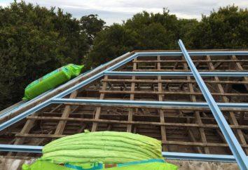 Instalacja listew dachowych do krokwi. Instalacja skrzynie pod siding. Instalacji skrzynek na podstawie metali