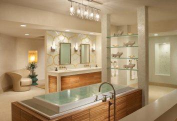 Chandelier Bath. Bella e sicura