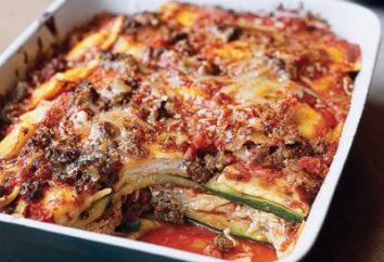 Lasagna dal zucchine con carne e formaggio