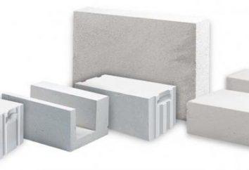 Des blocs de béton cellulaire, les dimensions caractéristiques: