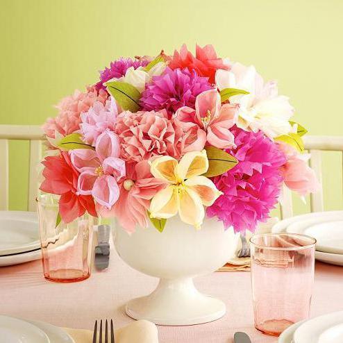 Krepppapier Blumen: Schritt für Schritt Anleitungen mit Fotos