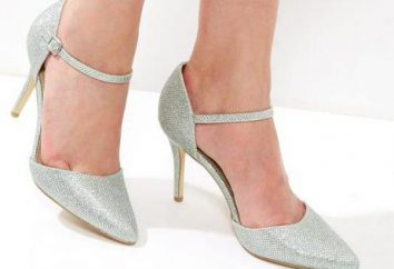 scarpe d'argento: descrizione, il modello, combinazione di colori