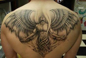 """Tatuaż """"Demon"""" i """"Anioł"""" – opiekun lub zadzwoń złych duchów?"""