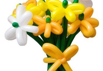 Flores feitas de balões com as próprias mãos