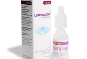 """Gotas """"Tsiprofarm"""": instrucciones de uso"""
