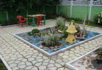 Kunststoff-Schalungen für Gartenweg. Decking für Gartenwege mit ihren eigenen Händen