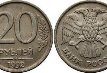 Features Münzen 20 Rubel 1992