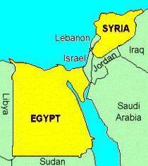 Vereinigte Arabische Republik und seine Zusammensetzung. Das Wappen und Münzen der Vereinigten Arabischen Republik