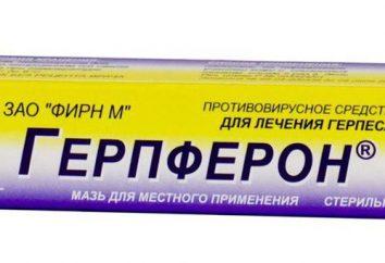 """""""Gerpferon"""" (ungüento): instrucciones de uso, reales"""