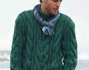 pulôveres de tricô para homens: padrões simples para iniciantes