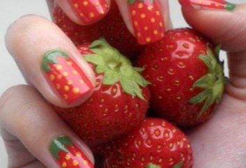 Maniküre mit Obst: gute Ideen