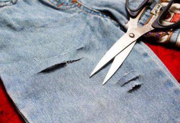recepcionistas conselho. Alteração de jeans velho