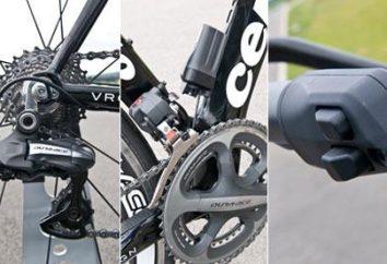Einrichten einer Schalt auf dem Fahrrad. Speed Radfahren