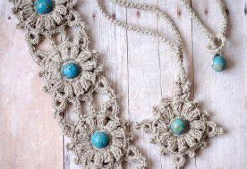 cinto crochet: um diagrama e descrição dos produtos e práticas belas