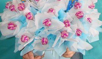 Blumenstrauß aus Süßigkeiten: eine Meisterklasse für Anfänger