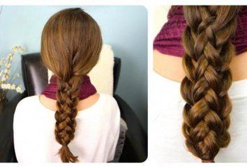 Plecionki dla dziewcząt na długie włosy: fotografie schemat tkania