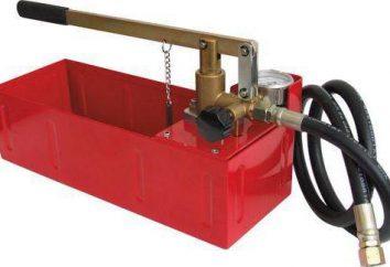 crimpare pompe di calore: tipologie, principi di funzionamento. Pompa a mano la prova di pressione