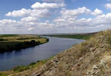Donetsk région – la rivière et une brève description