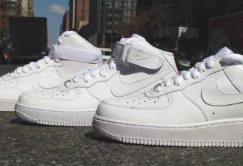 """El calzado para correr """"Nike"""" blanco – varón y hembra. Comentarios y fotos"""
