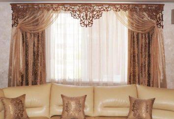 A céu aberto pelmet – uma forma moderna do cortinas de janela (foto). Como fazer um pelmet delicada?