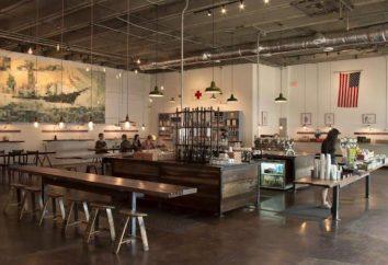 Cafe in stile loft storia, stile