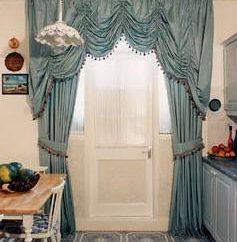 Cenefa para la sala de costura y cortinas yourself