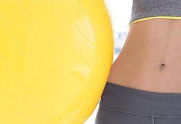Exercício para perda de peso da barriga na bola. Como escolher um fitball?