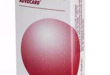 """""""Advokard"""" Tabletki: instrukcja w sprawie stosowania, opinie skład i opis"""