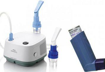 Inhaler IDA: Modelle, Anweisungen und Feedback. Vernebler UND