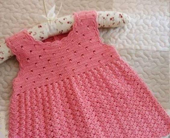 Ein Einfaches Kleid Für Mädchen Häkeln Die Regelung Fotos