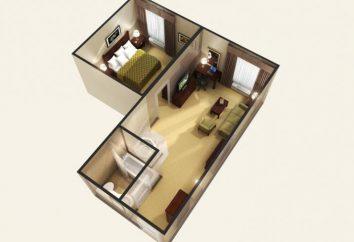 Dwa sąsiadujące ze sobą pokoje w domach różnych serii, aw poszczególnych mieszkań